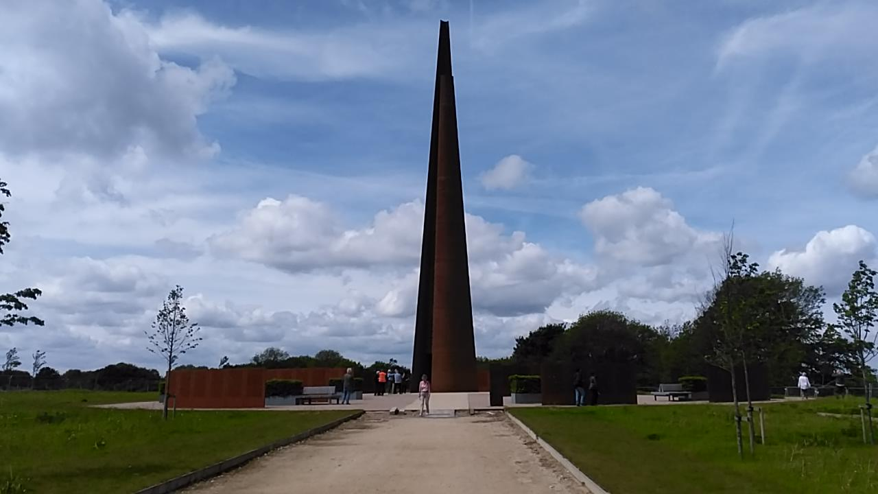 The Spire and Commemoration Walls at the International Bomber Command Centre, Lincoln