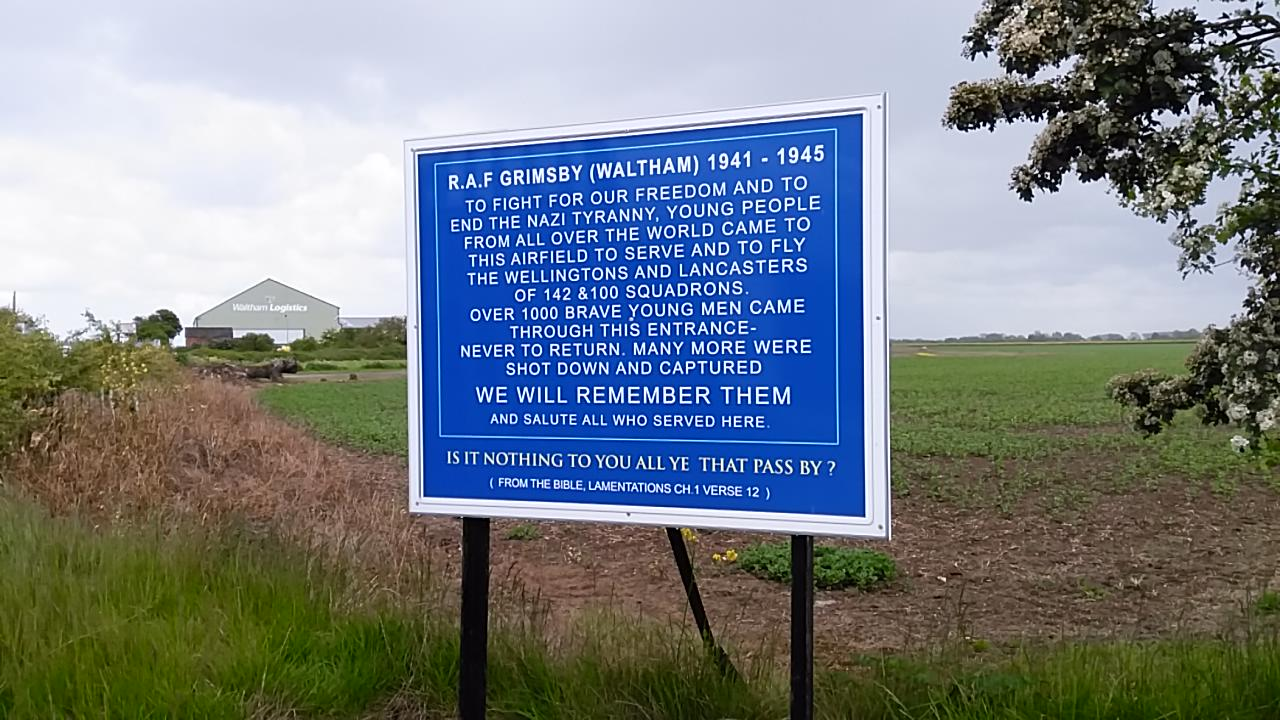 RAF Grimsby (Waltham) entrance sign