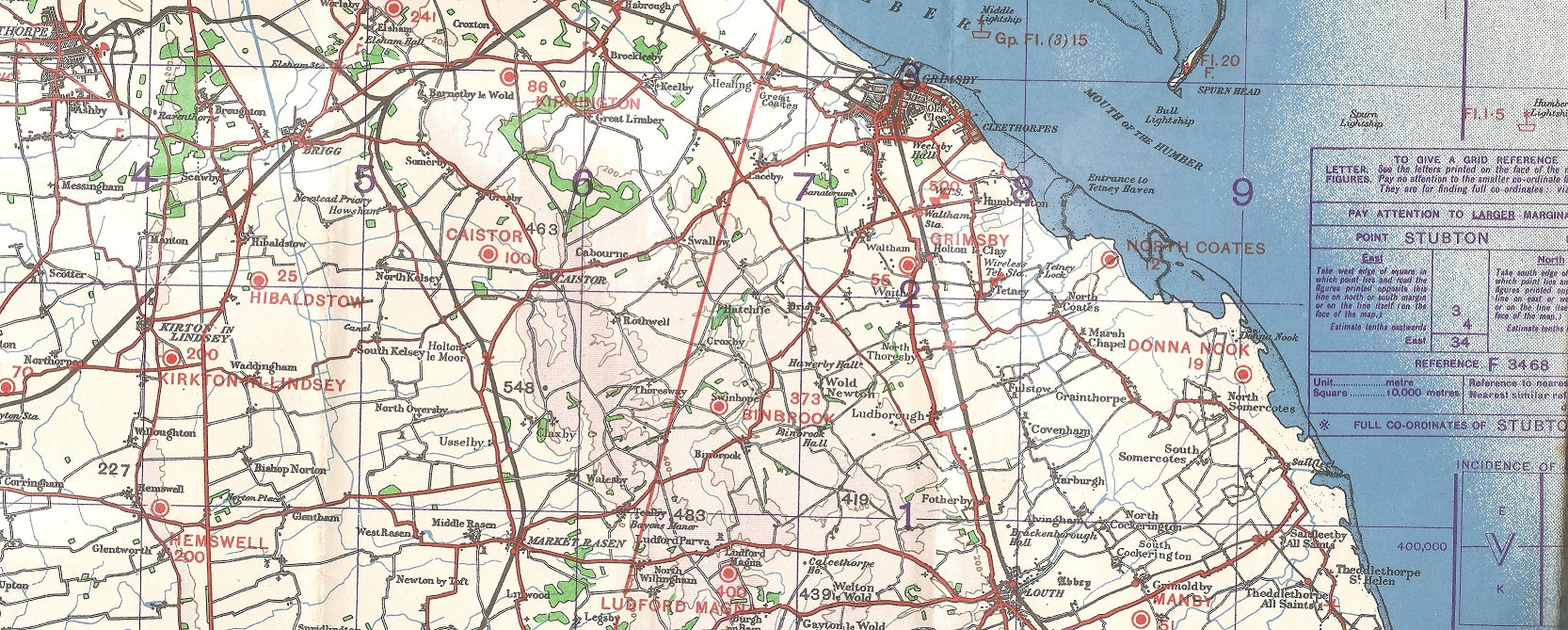 1943 RAF Sheet 6 North Midlands & Lincolnshire